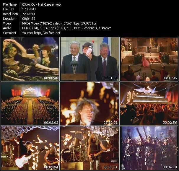 Ac-Dc video - Hail Caesar