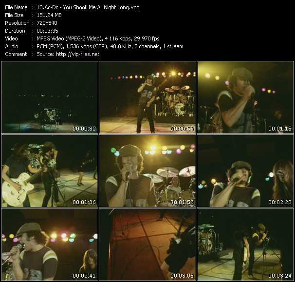 Ac-Dc video - You Shook Me All Night Long