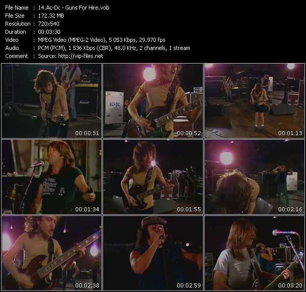 Ac-Dc video - Guns For Hire