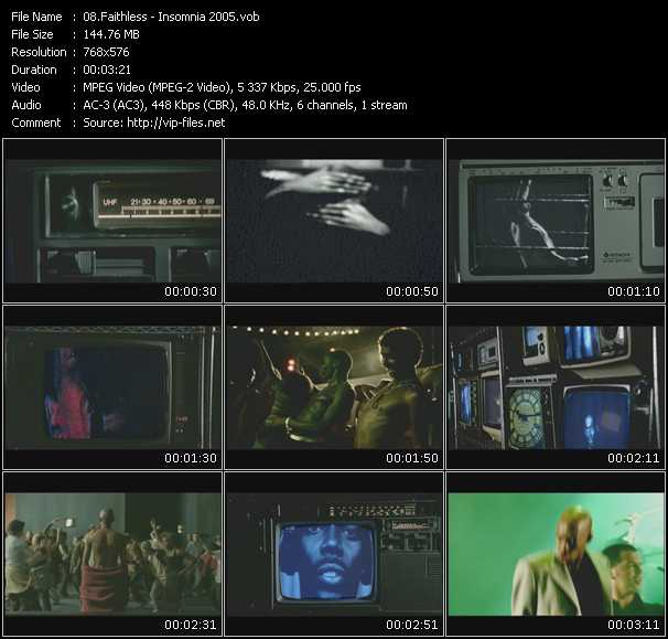 Faithless video - Insomnia 2005