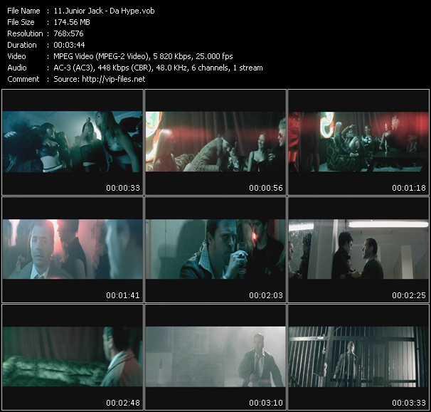Junior Jack Feat. Robert Smith video - Da Hype