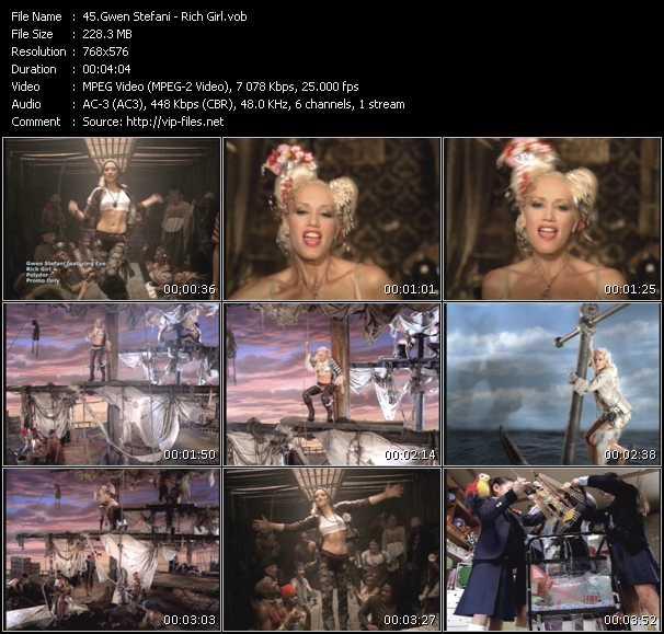 Gwen Stefani video - Rich Girl
