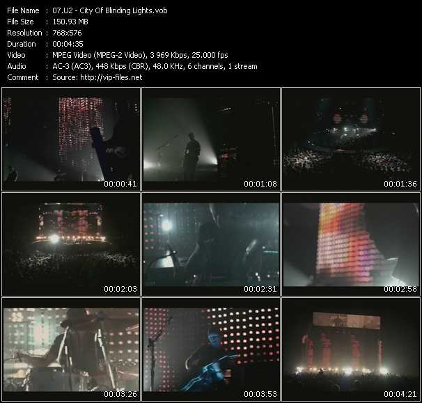 U2 video - City Of Blinding Lights