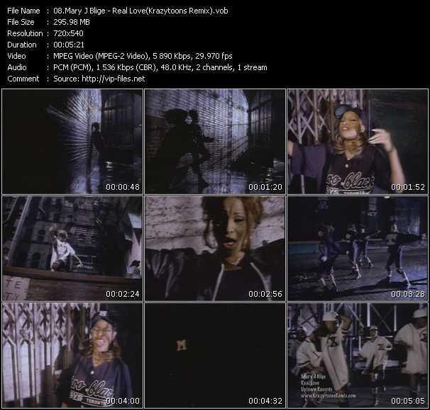 Mary J. Blige video - Real Love (Krazytoons Remix)