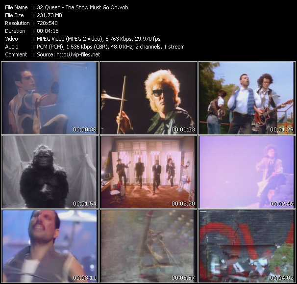 Queen video - The Show Must Go On