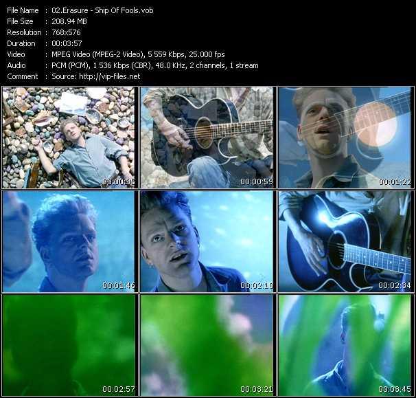 Erasure video - Ship Of Fools