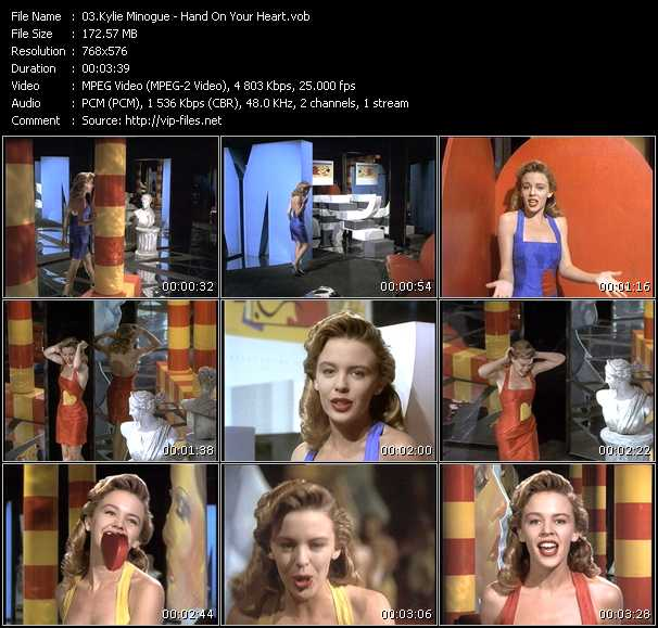 Kylie Minogue video - Hand On Your Heart