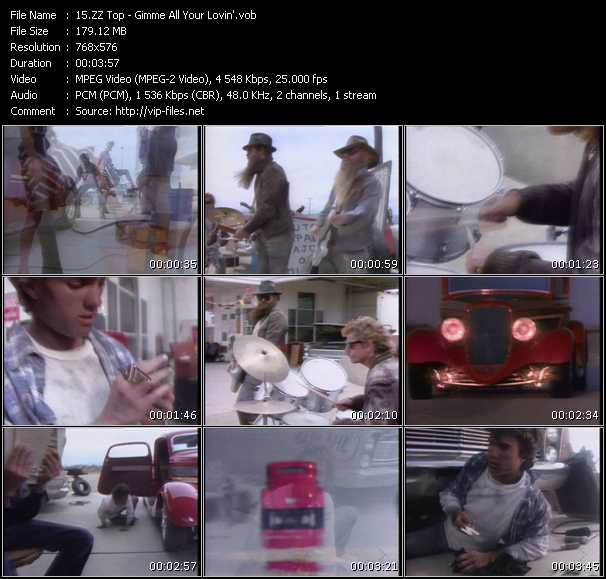 ZZ Top video - Gimme All Your Lovin'