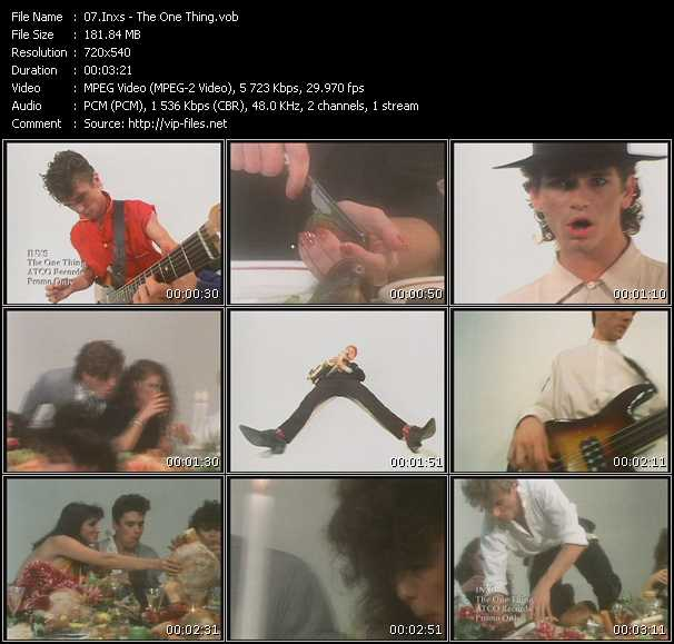 Inxs video - The One Thing