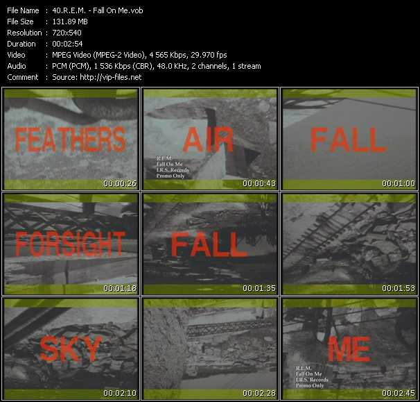R.E.M. video - Fall On Me