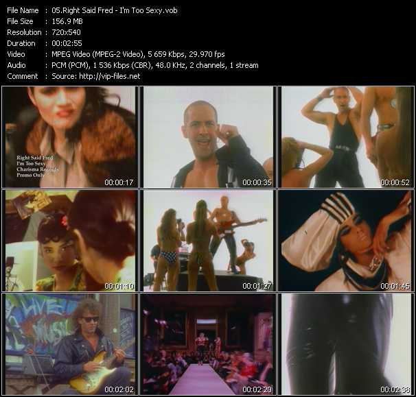 Right Said Fred video - I'm Too Sexy