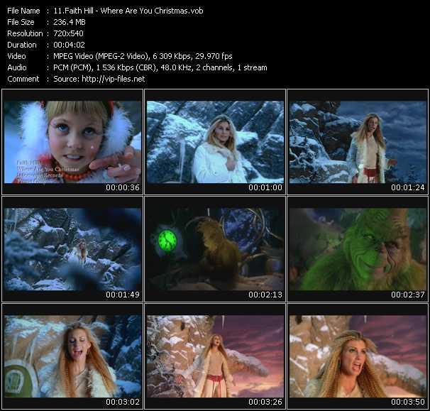 Faith Hill video - Where Are You Christmas