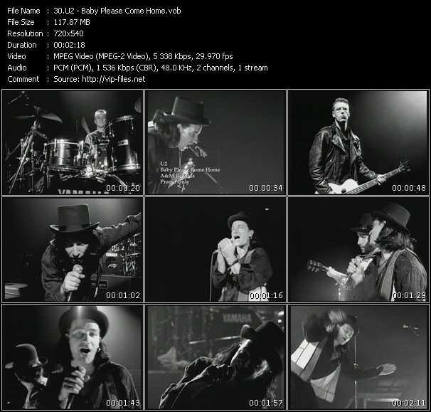 U2 video - Baby Please Come Home