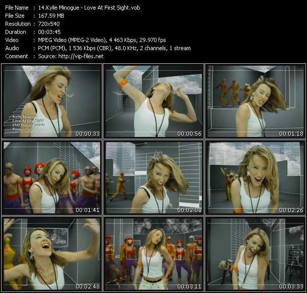 Kylie Minogue video - Love At First Sight