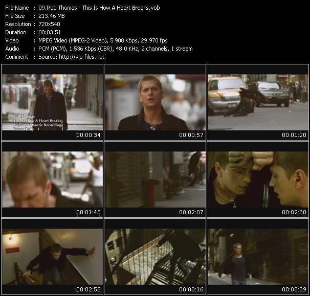 Rob Thomas video - This Is How A Heart Breaks