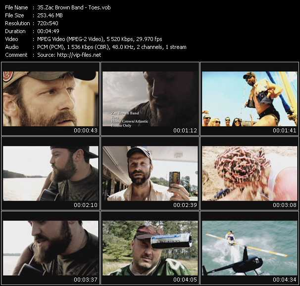 Zac Brown Band video - Toes
