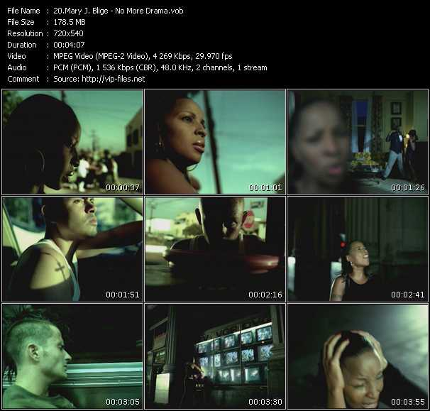 Mary J. Blige video - No More Drama