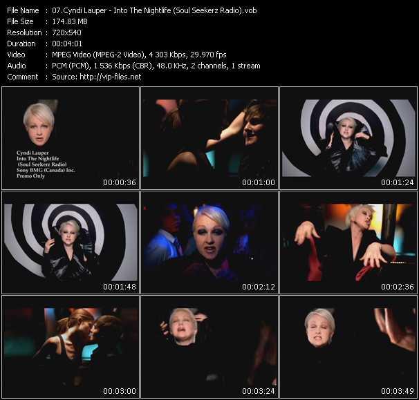 Cyndi Lauper video - Into The Nightlife (Soul Seekerz Radio)