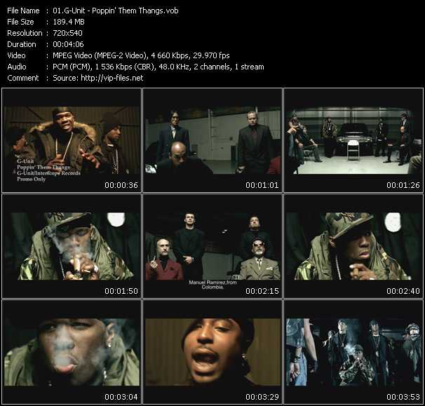 G-Unit video - Poppin' Them Thangs