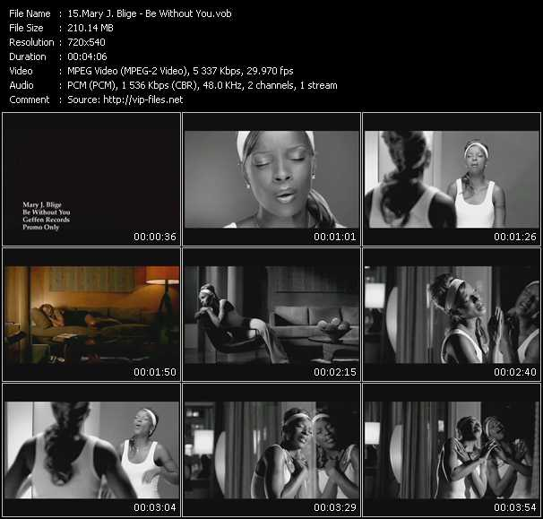 Mary J. Blige video - Be Without You