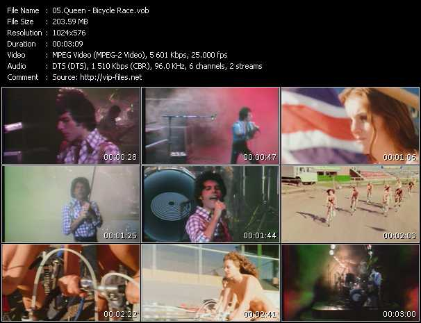 Queen video - Bicycle Race