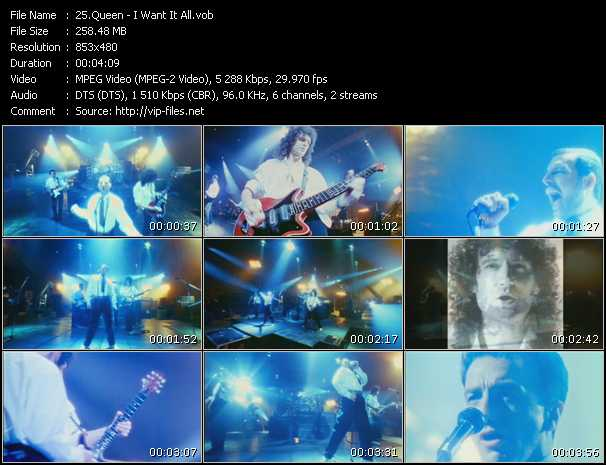Queen video - I Want It All