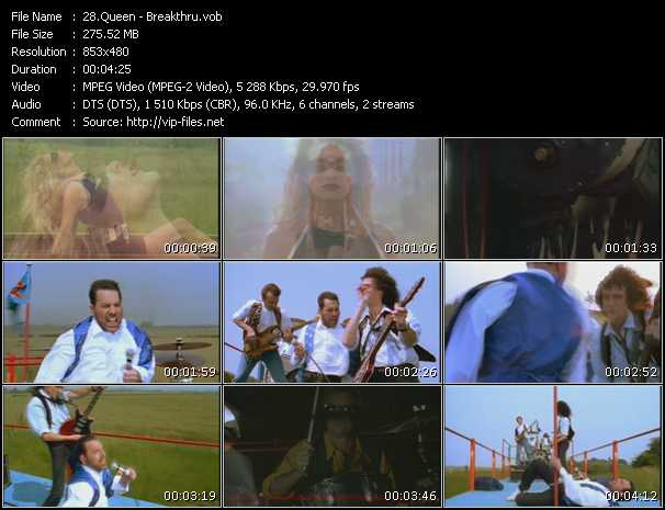 Queen video - Breakthru