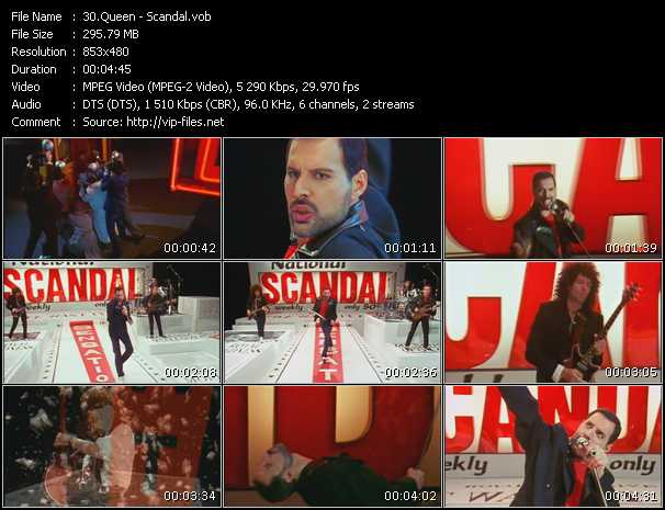 Queen video - Scandal