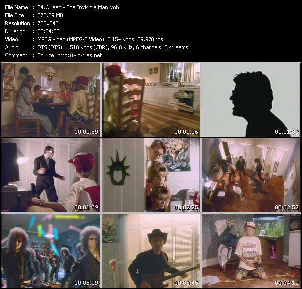 Queen video - The Invisible Man
