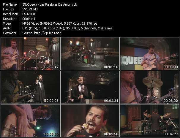 Queen video - Las Palabras De Amor