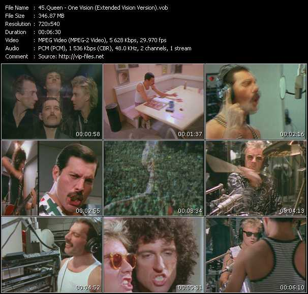 Queen video - One Vision (Extended Vision Version)