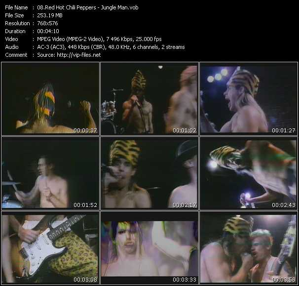 Red Hot Chili Peppers video - Jungle Man