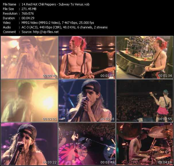 Red Hot Chili Peppers video - Subway To Venus
