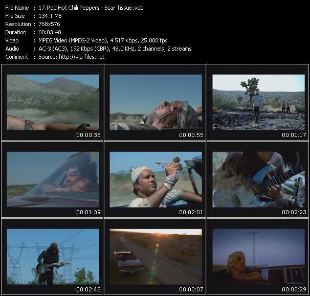 Red Hot Chili Peppers video - Scar Tissue