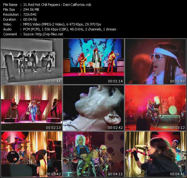Red Hot Chili Peppers video - Dani California