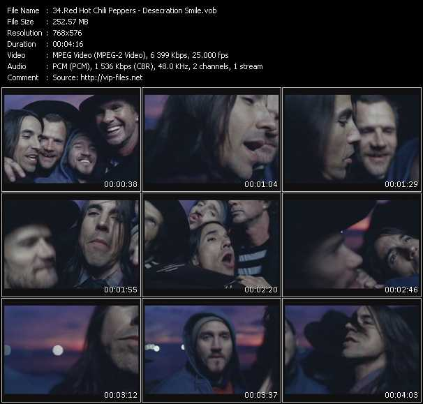 Red Hot Chili Peppers video - Desecration Smile
