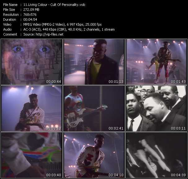 Living Colour video - Cult Of Personality
