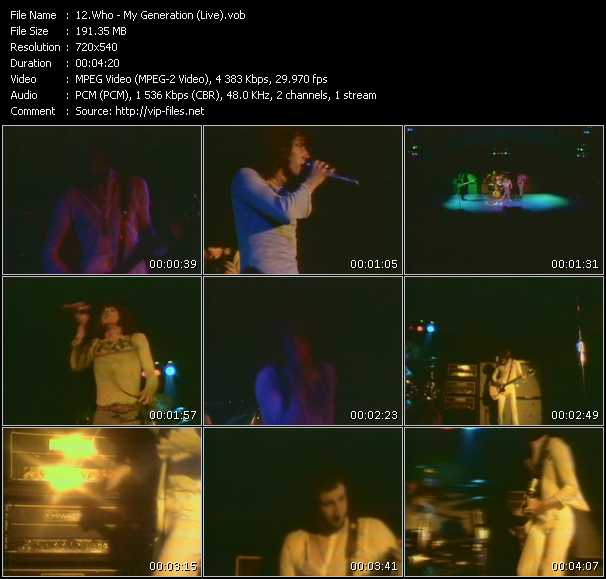 Who video - My Generation (Live)