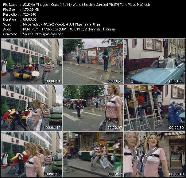 Kylie Minogue video - Come Into My World (Joachim Garraud Mix) (Vj Tony Video Mix)