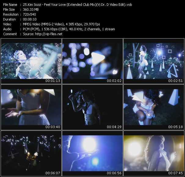 Kim Sozzi video - Feel Your Love (Extended Club Mix) (Vj Dr. D Video Edit)