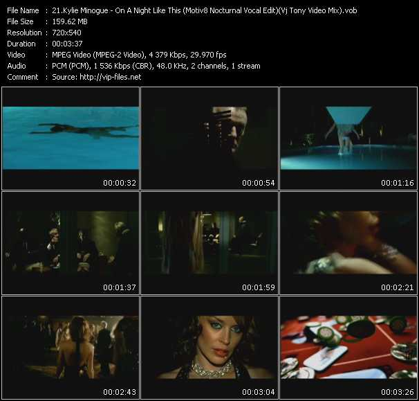 Kylie Minogue video - On A Night Like This (Motiv8 Nocturnal Vocal Edit) (Vj Tony Video Mix)