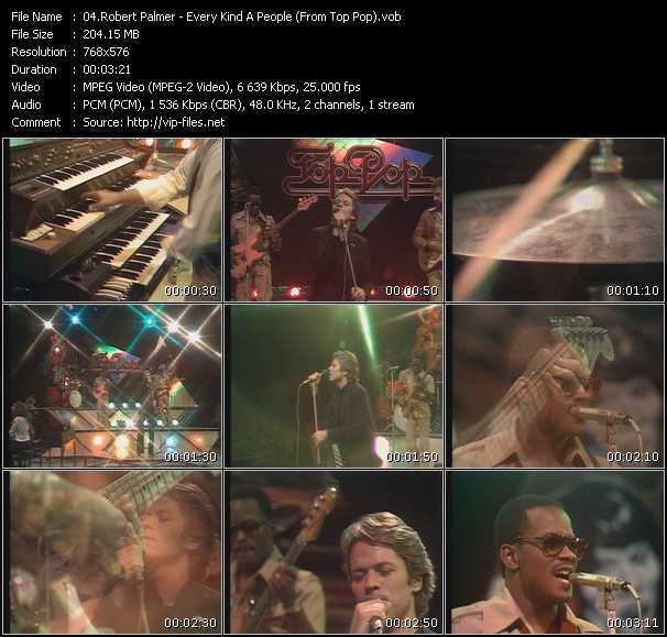 Robert Palmer video - Every Kind A People (From Top Pop)