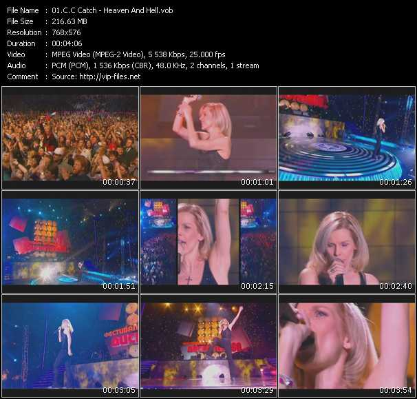 C.C. Catch video - Heaven And Hell (Live From Moskau)