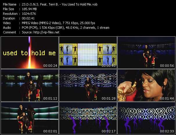 D.O.N.S. Feat. Terri B! video - You Used To Hold Me