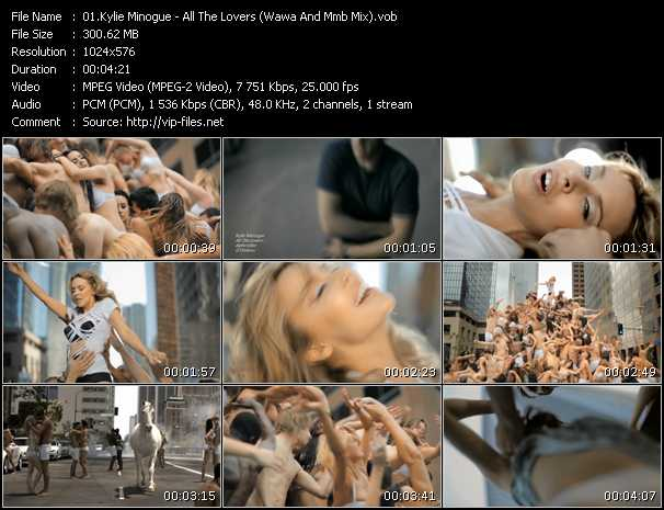Kylie Minogue video - All The Lovers (Wawa And Mmb Mix)