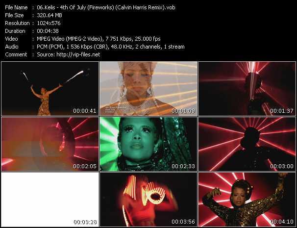 Kelis video - 4th Of July (Fireworks) (Calvin Harris Remix)