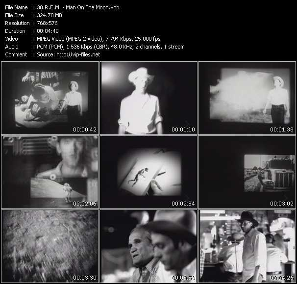 R.E.M. video - Man On The Moon
