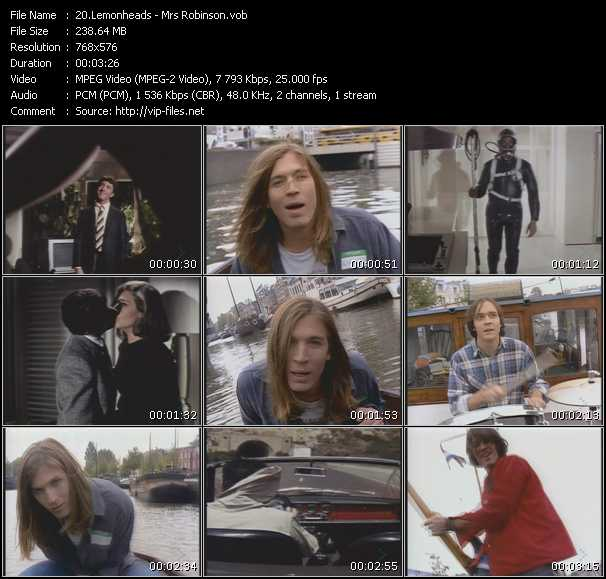 Lemonheads video - Mrs. Robinson