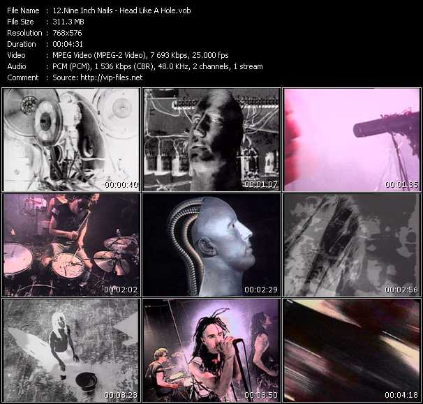 Nine Inch Nails video - Head Like A Hole