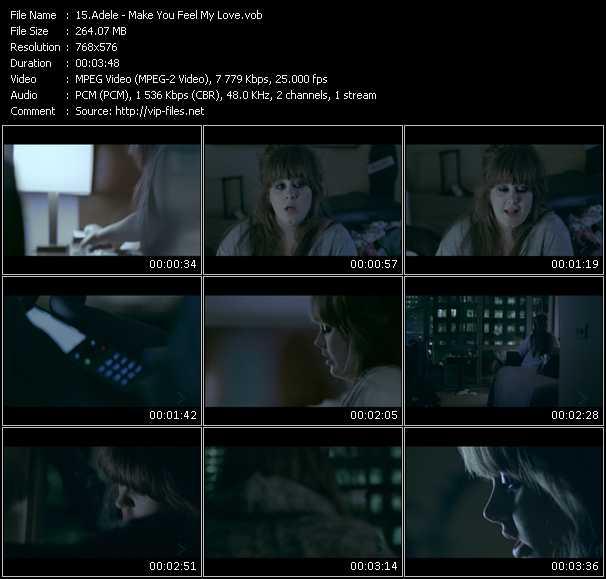 Adele video - Make You Feel My Love